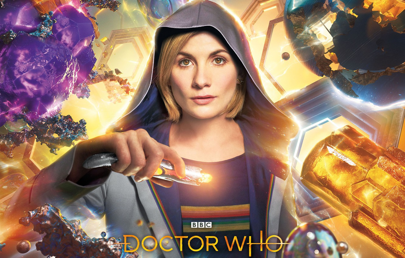 Photo wallpaper look, woman, hood, Doctor Who, Doctor Who, Jodie Whittaker, sonic screwdriver, Jodie Whittaker, The Thirteenth …