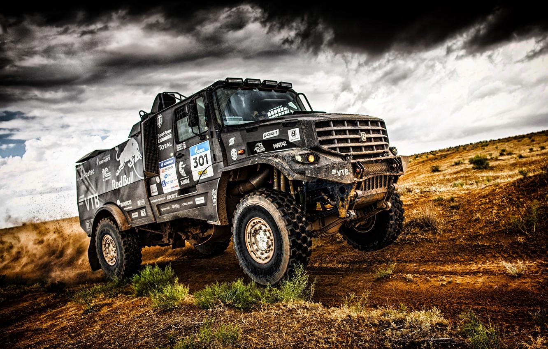 Photo wallpaper Sand, Auto, Sport, Machine, Speed, Truck, Race, Master, Russia, Kamaz, Rally, KAMAZ-master, Rally, KAMAZ, The …