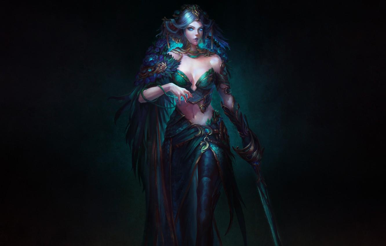 Wallpaper Girl Fantasy Art Style Background