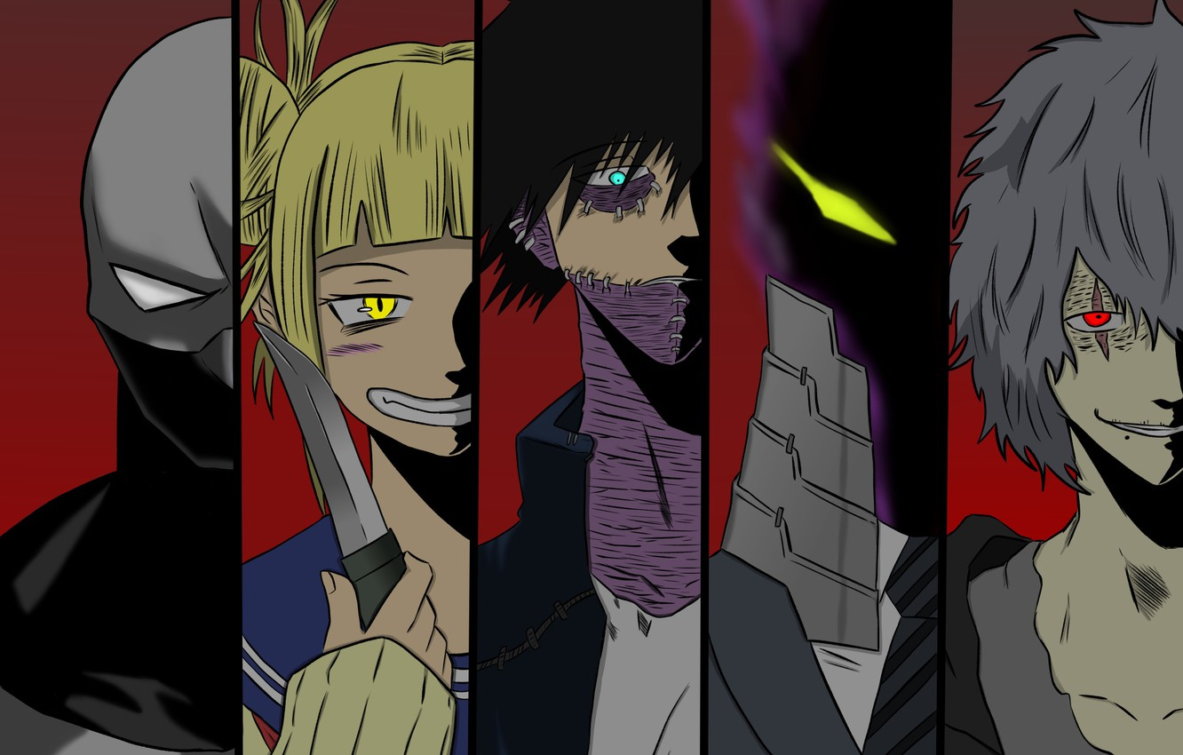 Wallpaper Collage Villains My Hero Academia Boku No Hero