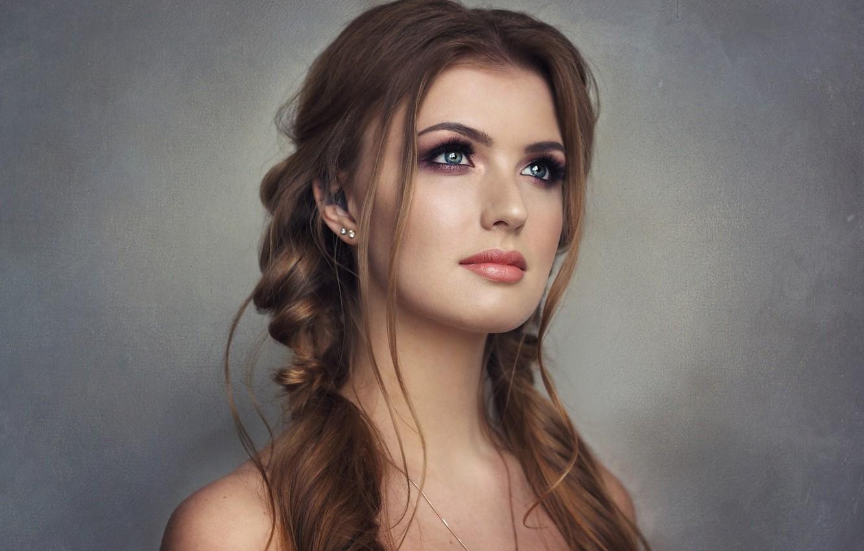 Photo wallpaper Girl, Photo, Model, Girl, Brown hair, Model, Braids, Beauty, Photo, Beautiful, Photographer, Photographer, Curls, Pigtails, …