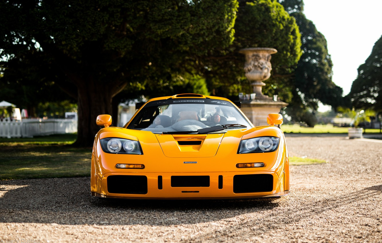 Photo wallpaper yellow, hypercar, McLaren F1 LM, F1 LM