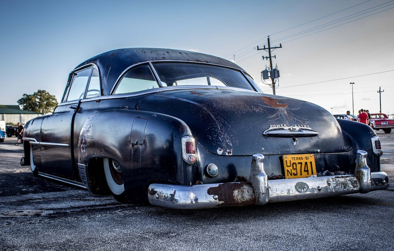 Photo wallpaper Chevy, Old, Rat Rod, Low