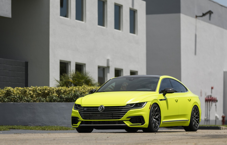 Photo wallpaper Volkswagen, front view, 2018, Vossen, R-Line, Arteon, Highlight Concept