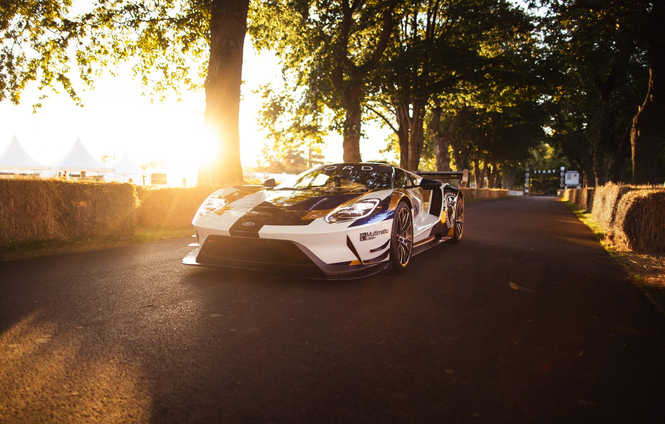 Photo wallpaper Ford, Trees, Ford GT, sports car, Mk II
