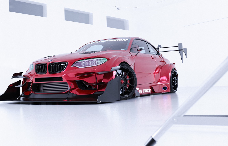Photo wallpaper Auto, BMW, Machine, Tuning, Car, Auto, Render, Rendering, Time Attack, Transport & Vehicles, Javier Oquendo, …