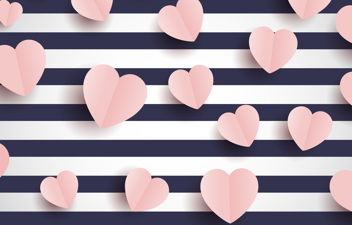 Photo wallpaper line, background, holiday, hearts, Valentine's day, postcard