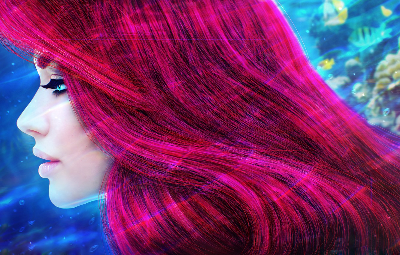 Photo wallpaper hair, Princess, Ariel, MagicnaAnavi