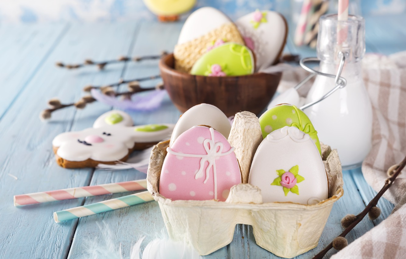 Photo wallpaper holiday, Easter, Easter, composition, Eggs, Myfoodie