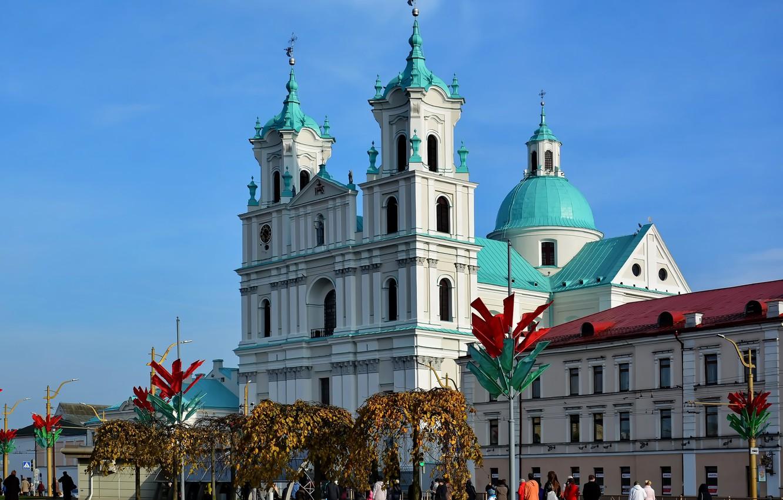 Photo wallpaper area, architecture, Grodno, Farny Church