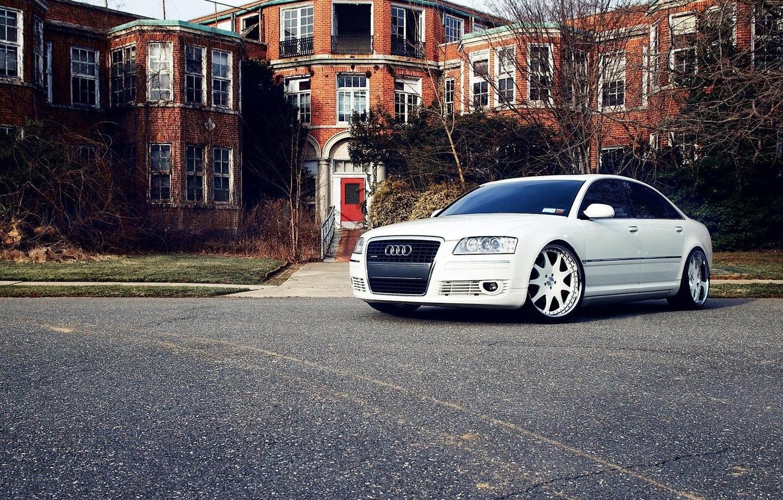 Photo wallpaper Audi, Car, White