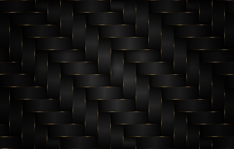 Photo wallpaper background, pattern, black, gold
