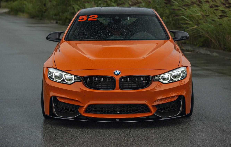 Photo wallpaper BMW, Light, Orange, Face, F82, Sight, LED