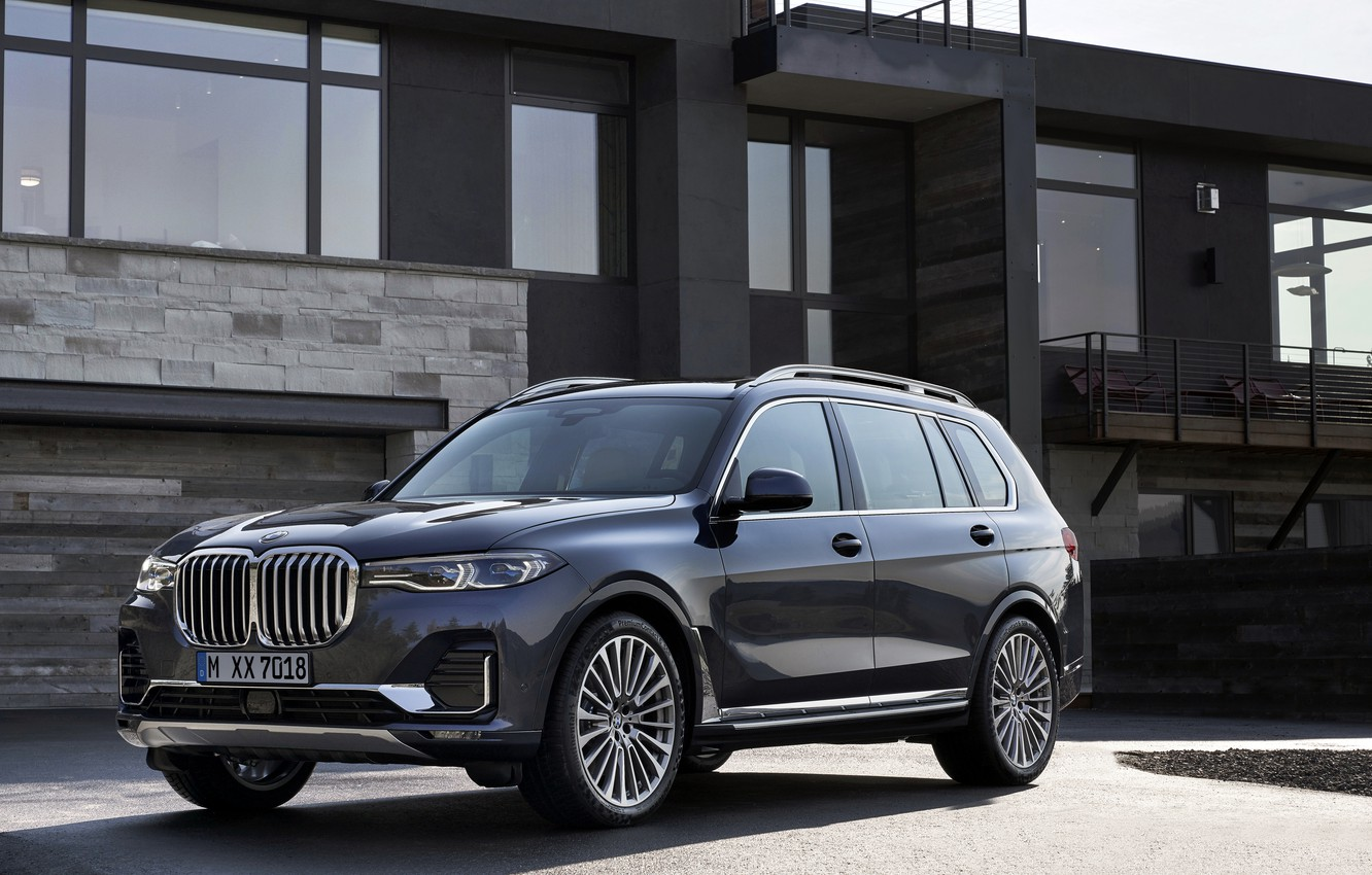 Photo wallpaper BMW, 2018, crossover, SUV, 2019, BMW X7, the building, X7, G07