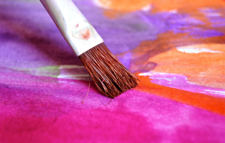 Photo wallpaper paint, brush, draws, draw