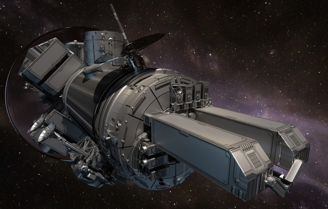 Photo wallpaper space, spaceship, 3D graphics