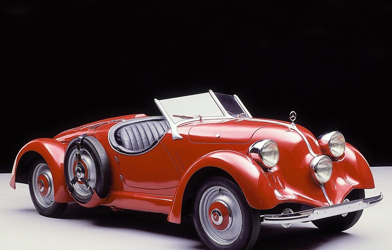 Photo wallpaper retro, convertible, Mercedes Benz