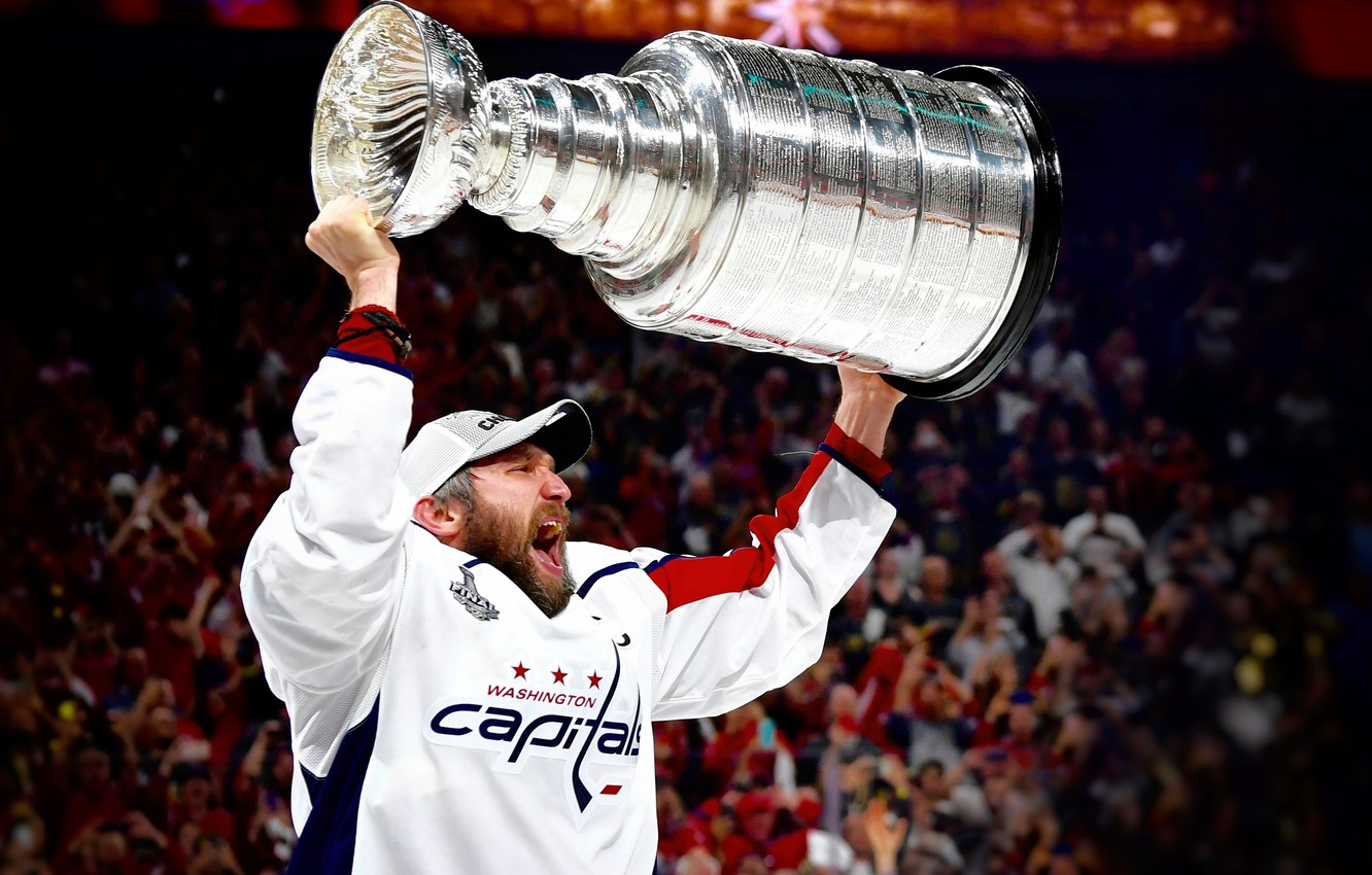Photo wallpaper The game, Sport, Washington, Ice, Washington, 2018, Alexander Ovechkin, NHL, NHL, Washington Capitals, Ovechkin, Cup, …