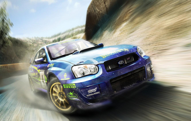 Photo wallpaper machine, the game, speed, track, car, Colin McRae Rally, Colin McRae Rally 2005