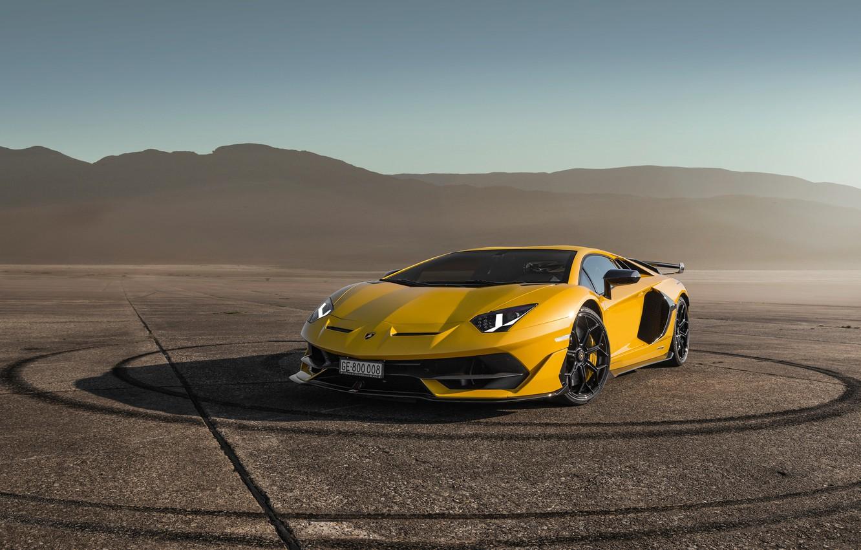 Photo wallpaper Lamborghini, supercar, Aventador, SVJ, 2019, Aventador SVJ