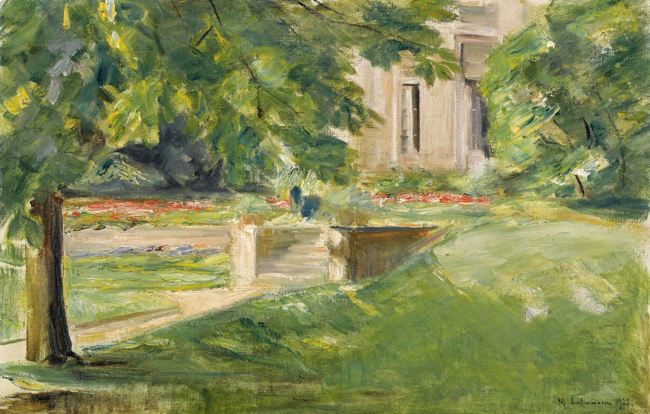 Photo wallpaper landscape, picture, 1923, Max Liebermann, Max Liebermann, The house and terrace on the South-West