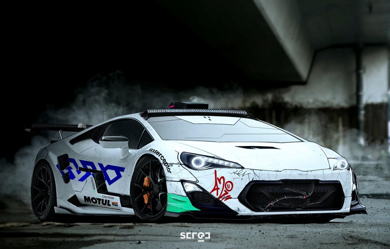 Lamborghini, Machine, Car, Art