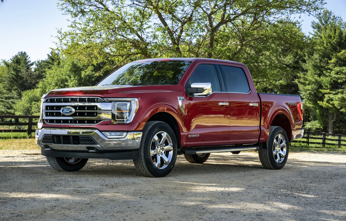 Photo wallpaper red, Ford, pickup, F-150, 2020, 2021, F-series