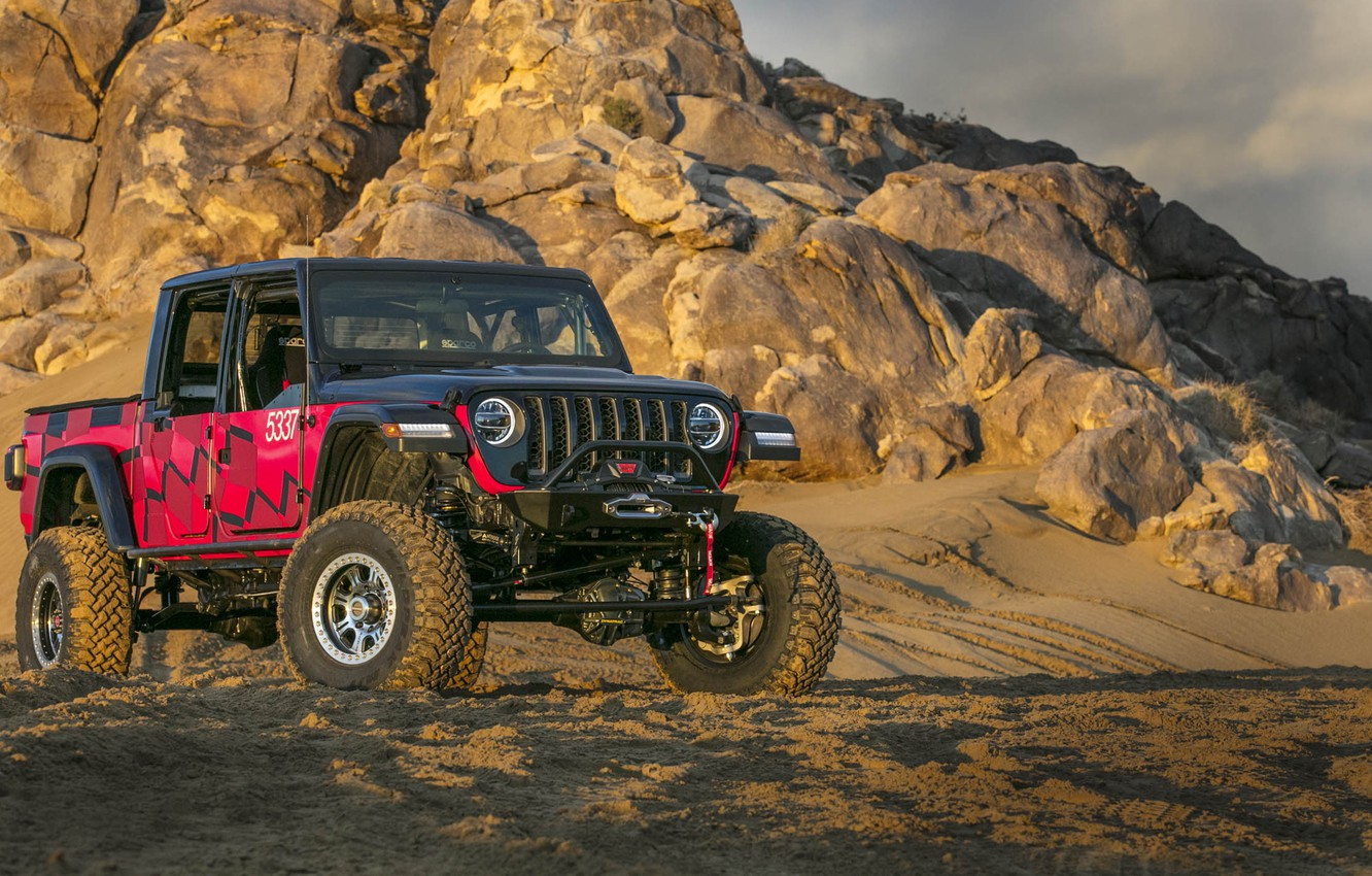 Photo wallpaper Jeep Gladiator, King of the Hammers, Race Car 2019, Jeep Gladiator King of the Hammers …