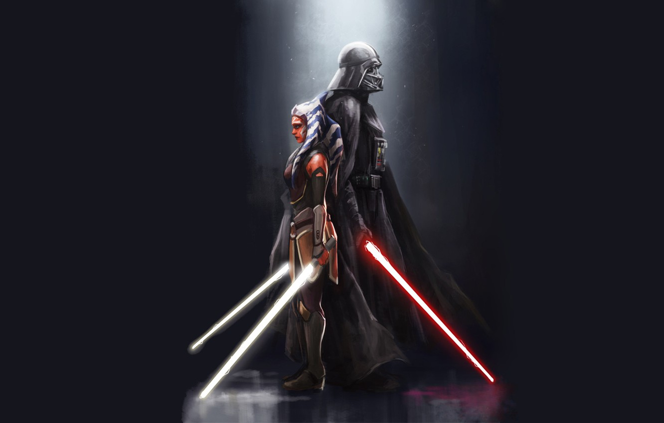 Wallpaper Jedi Darth Vader Sit Star Wars Rebels Ahsoka