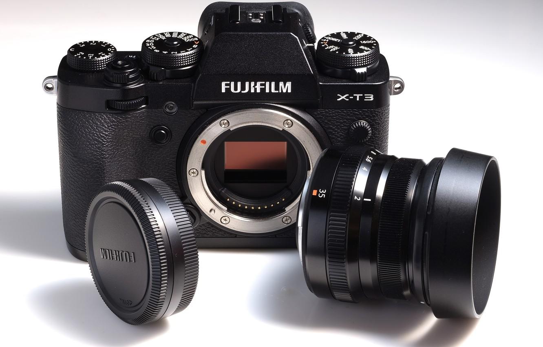 Photo wallpaper the camera, lens, Fujifilm, system, X-T3