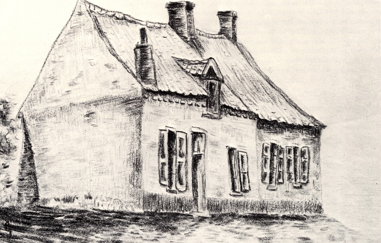 Photo wallpaper house, Vincent van Gogh, Works of the young, The House Magros
