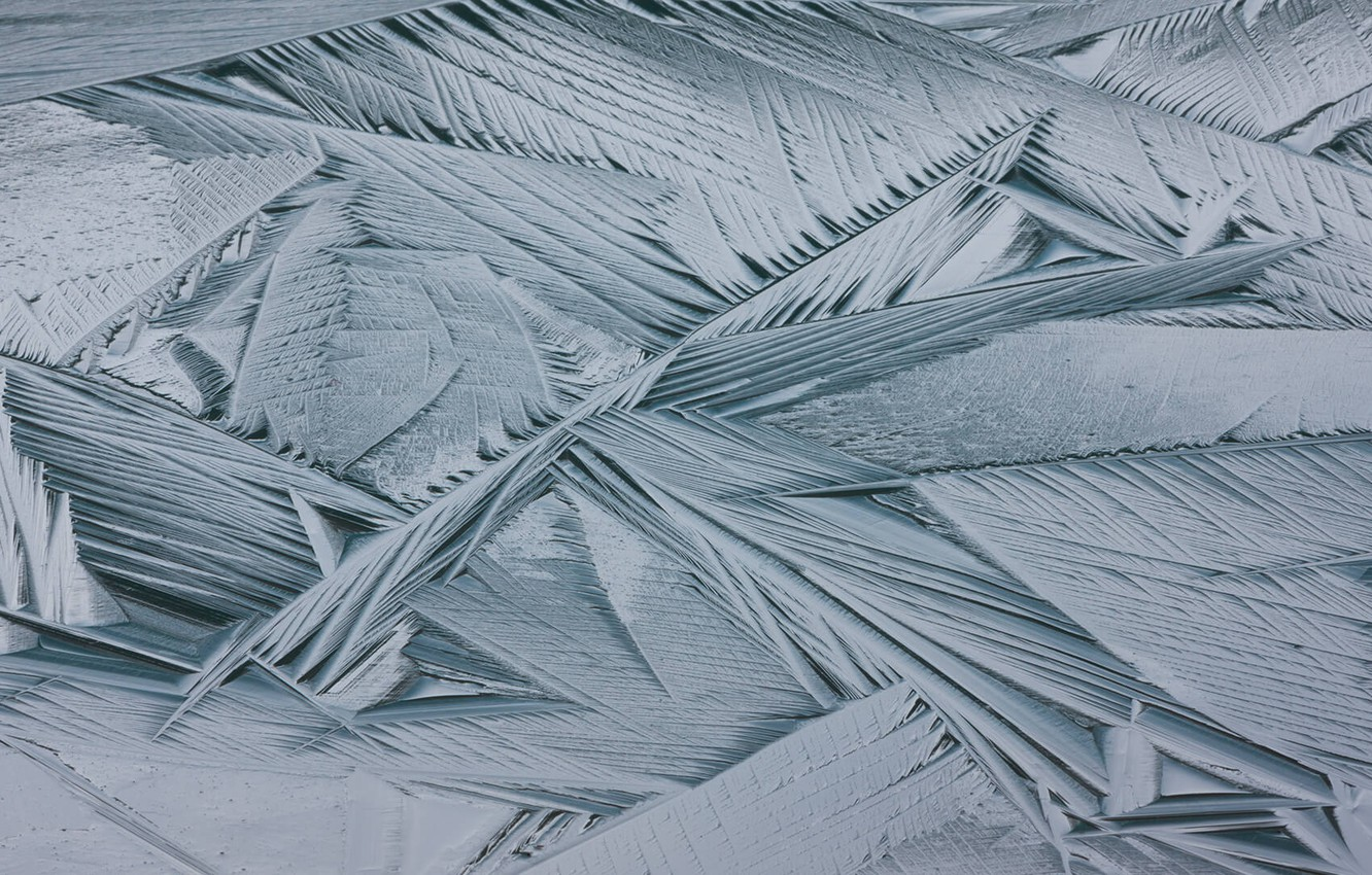 Photo wallpaper ice, frost, crystals
