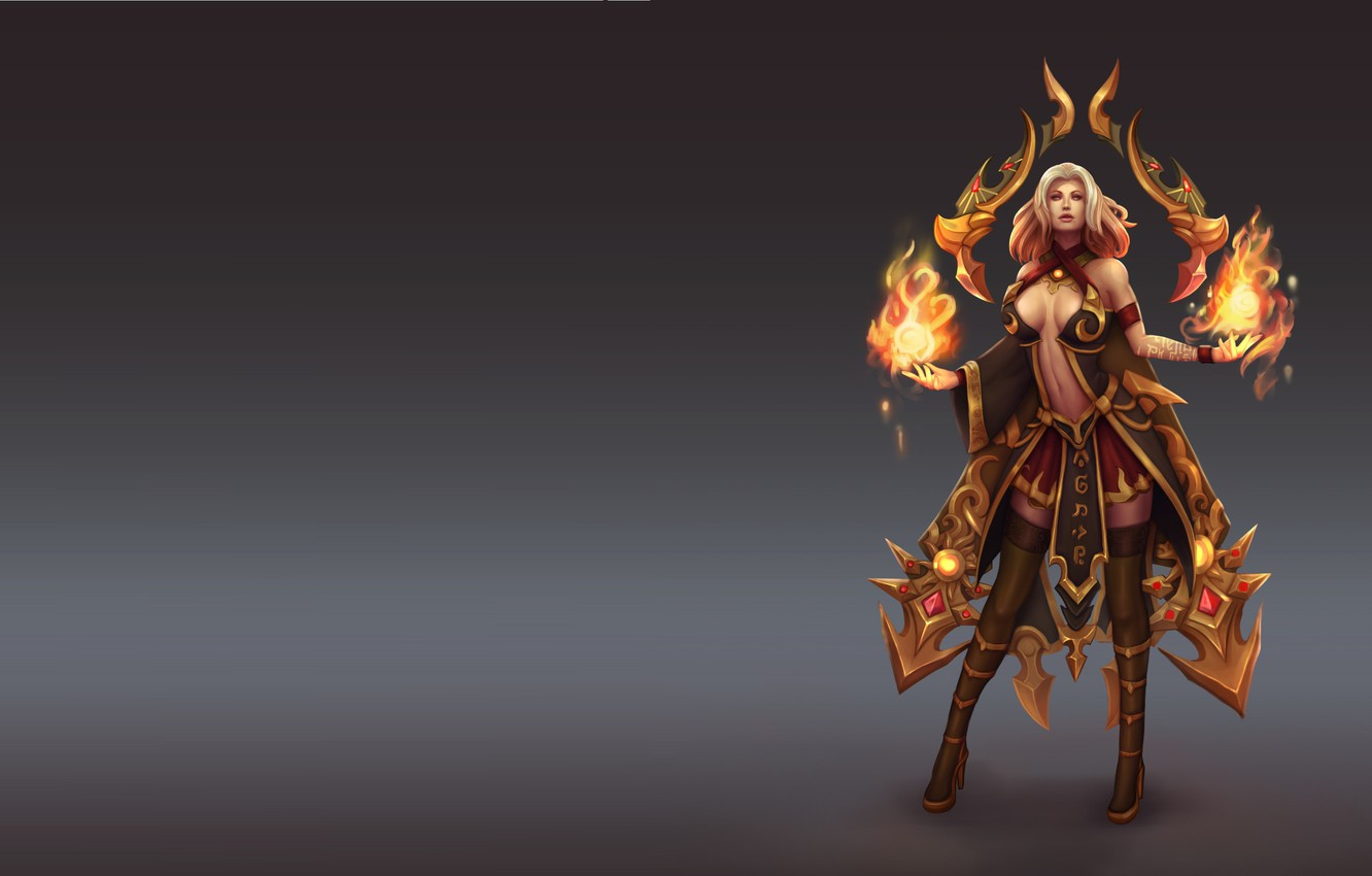 Photo wallpaper the game, art, fantasy, costume design, Anna the Fire Keeper, Chu Anh