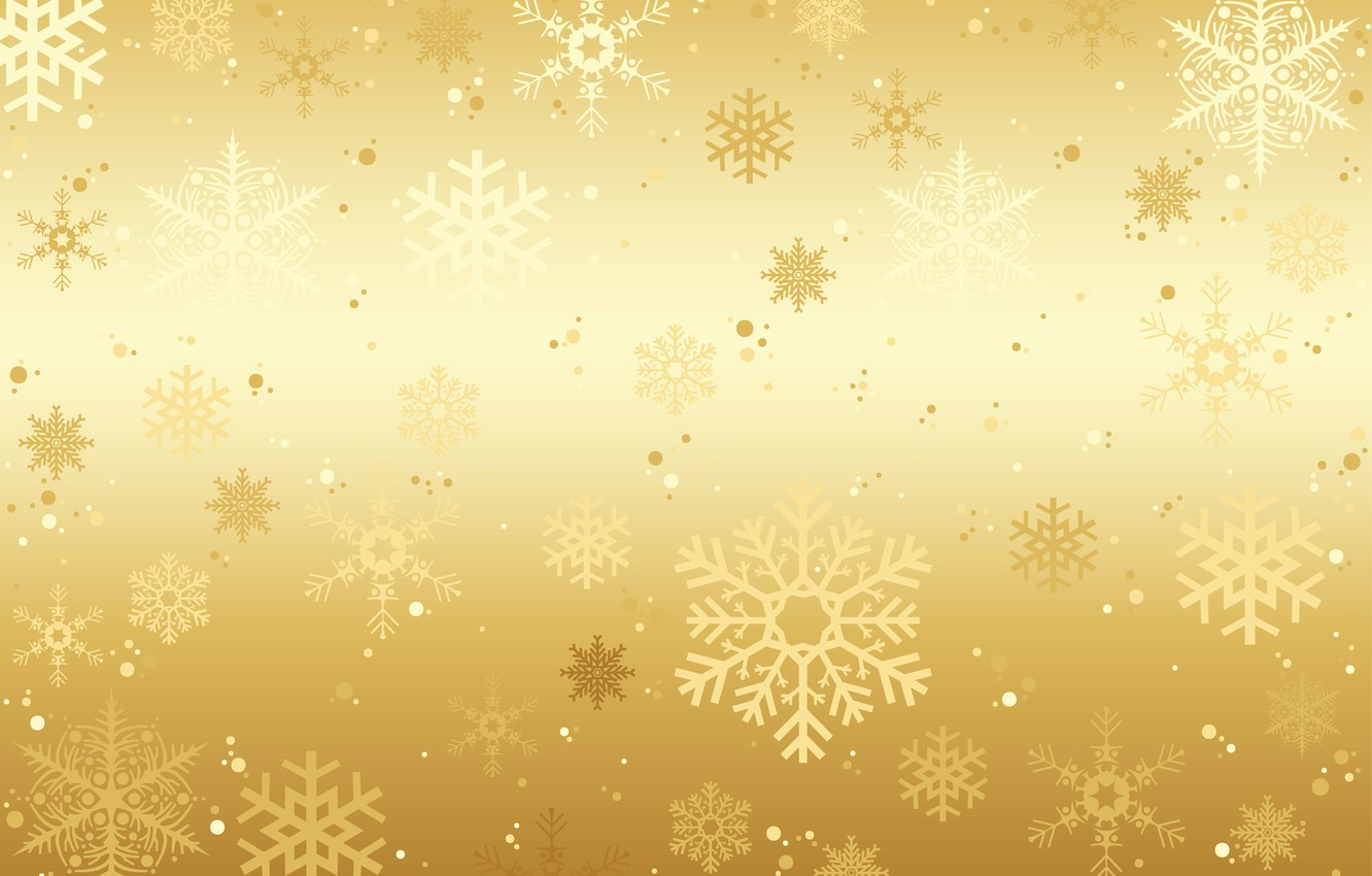 Christmas Background Images Gold.Wallpaper Winter Snow Snowflakes Background Golden Gold
