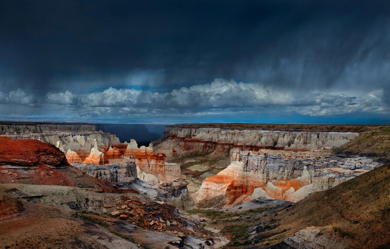 Photo wallpaper clouds, AZ, USA, Number Of Main Canyon