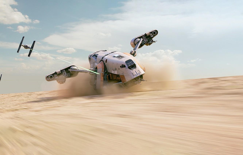 Photo wallpaper Star Wars, Art, Republic, Mantis, Science Fiction, TIE Fighter, TIE, Transport & Vehicles, Control, TIE/LN …