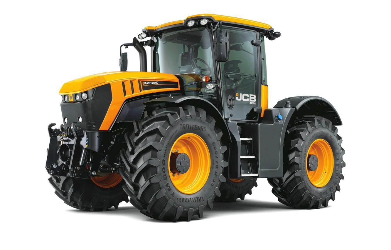 Photo wallpaper tractor, white background, JCB, Fastrac 4220