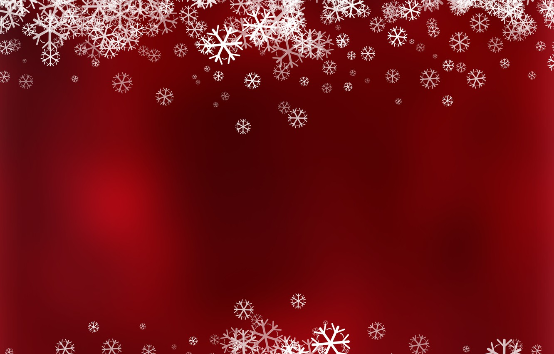 Photo wallpaper winter, snow, snowflakes, red, background, red, Christmas, winter, background, snow, snowflakes, frame