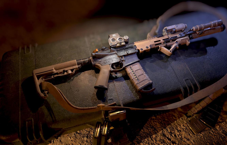 Photo wallpaper rendering, weapons, rifle, weapon, render, custom, render, 3d art, ar-15, assault rifle, assault Rifle, ar-15, …