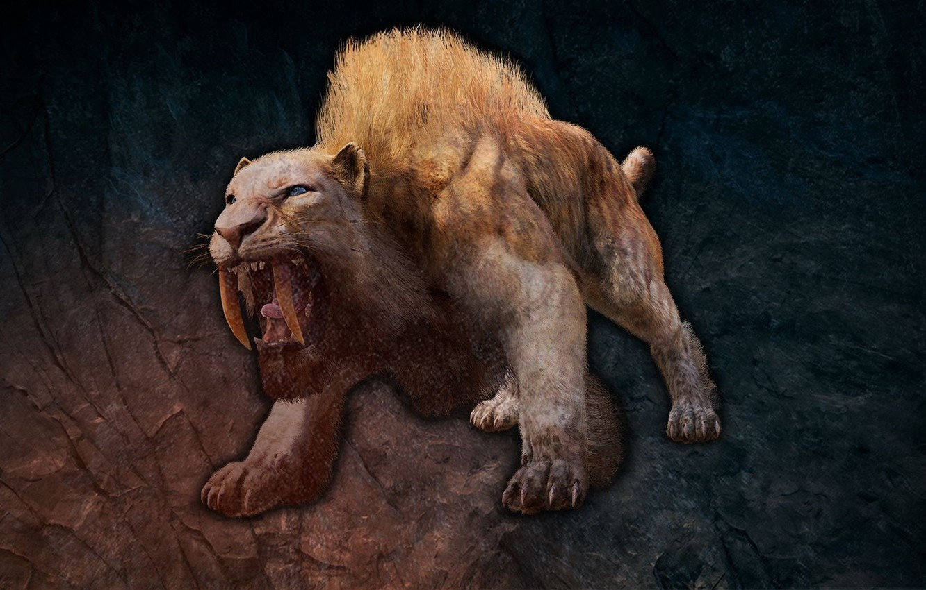 Wallpaper Beast Saber Toothed Tiger Beast Smilodon Far Cry
