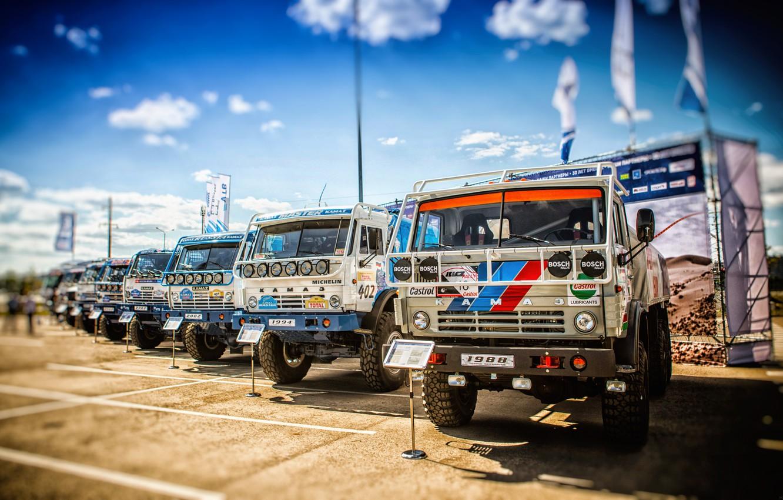 Photo wallpaper Auto, Sport, Machine, Truck, Master, Russia, 2009, 2018, Kamaz, Rally, Dakar, KAMAZ-master, Dakar, Rally, KAMAZ, …