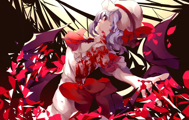 Photo wallpaper blood, Girl, the demon, Touhou, Touhou, Touhou