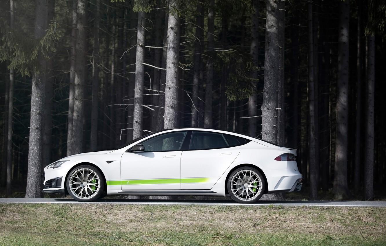 Photo wallpaper side view, Tesla, Mansory, Model S, 2016