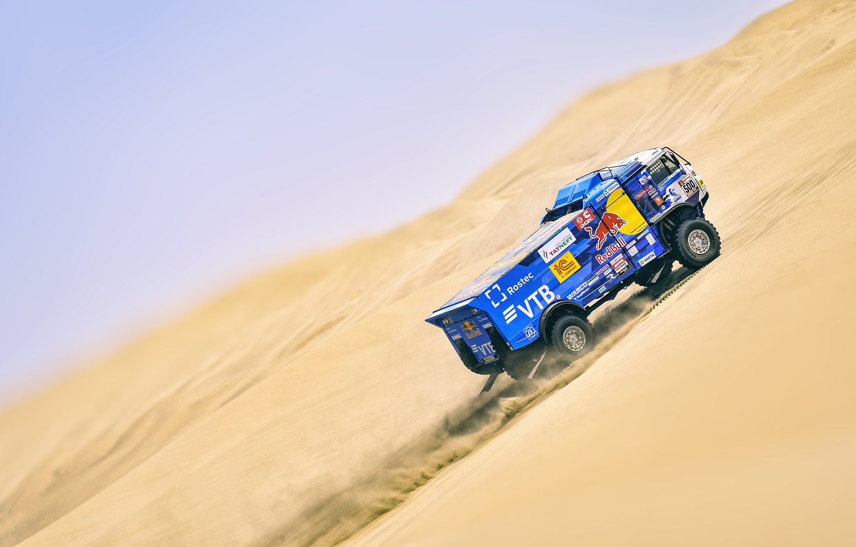 Photo wallpaper Auto, Sport, Machine, Truck, Master, Russia, 500, Kamaz, Rally, Dakar, KAMAZ-master, Dakar, KAMAZ, The roads, …