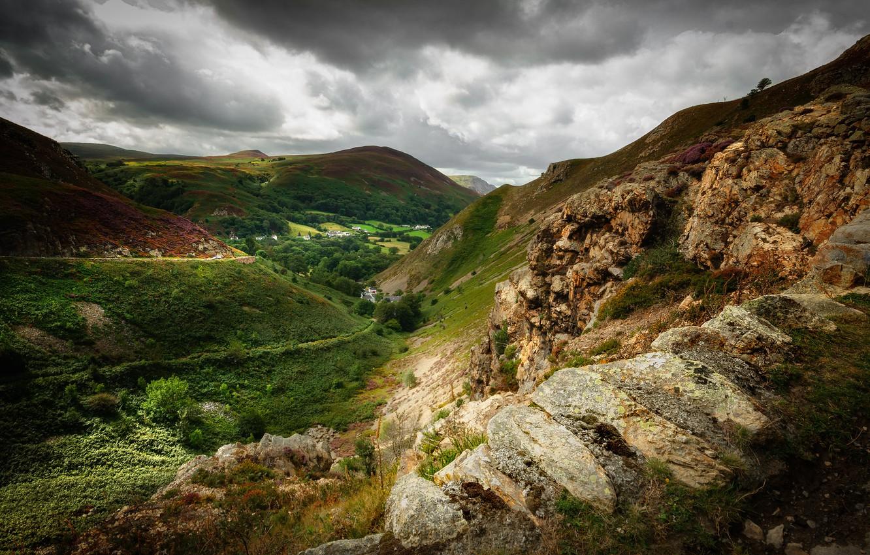 Photo wallpaper Wales, North Wales, Sychnant Pass
