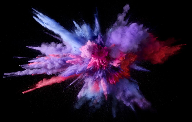 Photo wallpaper Apple, Mac os, macOS, Color Burst, 5K, An explosion of color