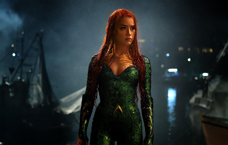 Photo wallpaper Amber Heard, DC Comics, Aquaman, Mera