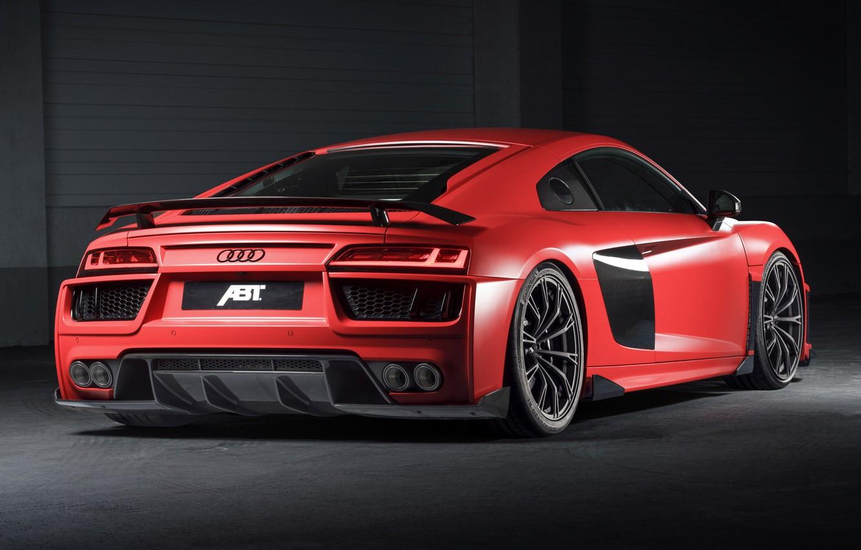 Photo wallpaper Audi R8, rear view, ABBOT, V10, More, 2017