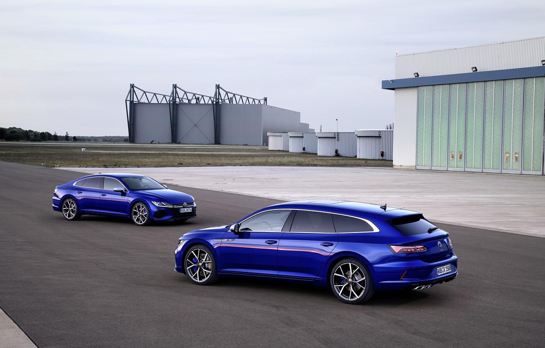 Photo wallpaper Volkswagen, blue, structure, universal, Shooting Brake, liftback, 2020, Arteon, Shooting Brake R, Arteon R