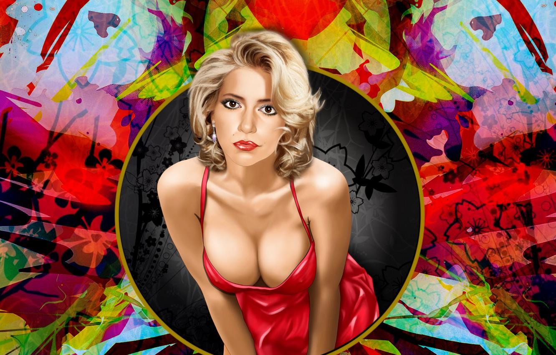Photo wallpaper hairstyle, picture, devushka